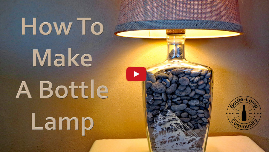 Watch our newest how-to bottle lamp video.