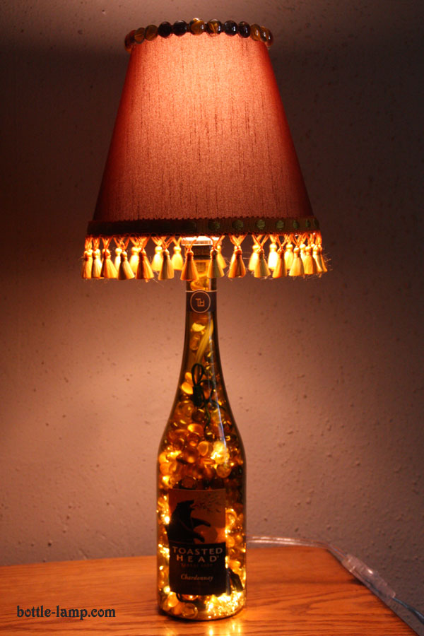 make a lamp from a glass bottle how to make a bottle lamp