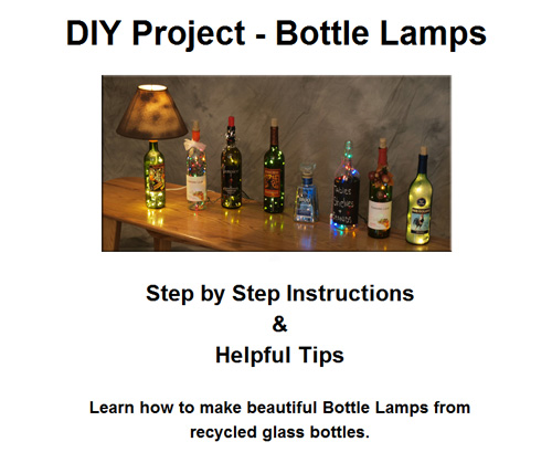 How to make a lamp from a recycled bottle