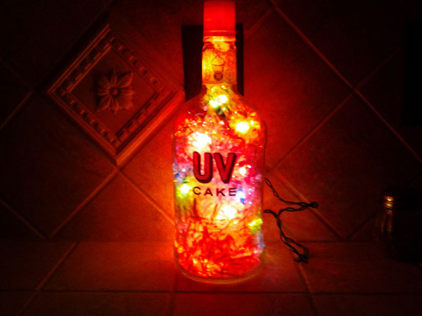 DIY Project Bottle Lamp