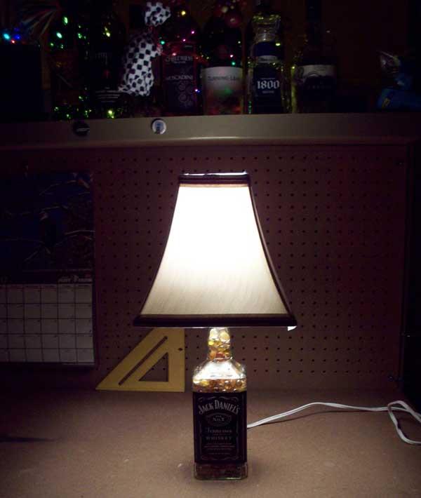Make a Bottle Lamp from a Jack Daniels bottle
