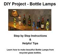 Craft Ideas Empty Wine Bottles on Click Here To Visit Our Bottle Lamp Making Resources Page