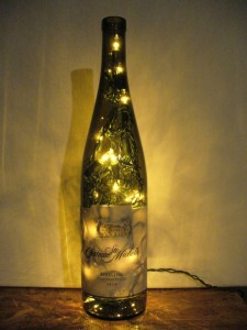 Showing off three diy bottle light projects how to make for Wine bottle night light diy