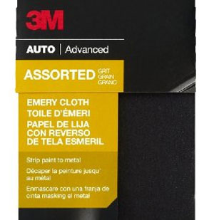 sand paper or emery cloth