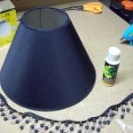 Dark Lamp Shade for the Dark Side of the Moon wine bottle