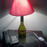 Green Bottle Lamp