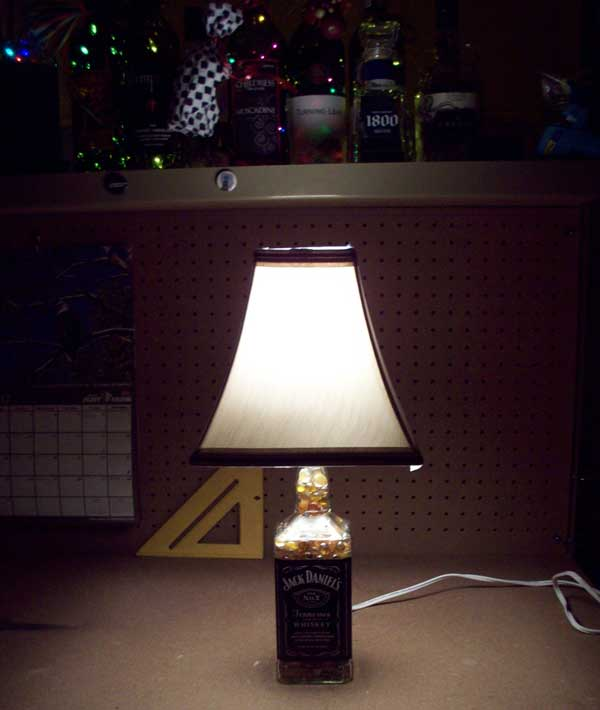 Turn any glass bottle into a lamp