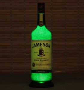Glowing diamond like look - Jameson Bottle Light