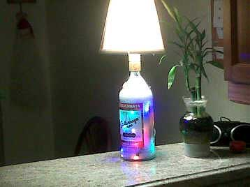 Stoli Vodka Bottle Lamp