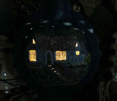 Becky's Hand Painted Bottle Lamp
