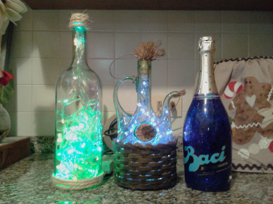 Italian Lighted Bottles