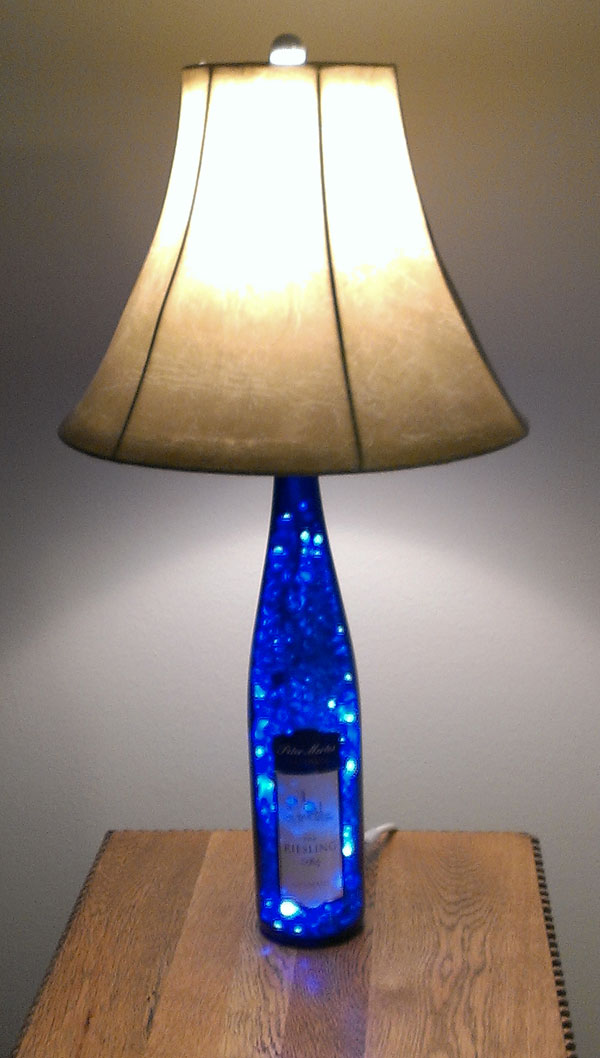 peter mertes wine bottle lamp picture sent in by steve