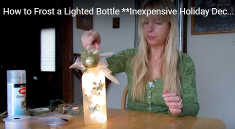 cheap Holiday decorations using a recycled bottle