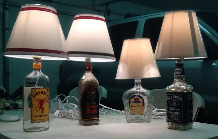 Thank You Chuck For Sending Us Pictures Of Your Finished Bottle Projects To  Share On Our Site!