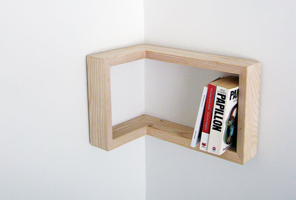 creative corner book shelves