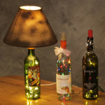 Home Decorating with lighted bottles