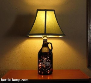 Jack Pine bottle lamp