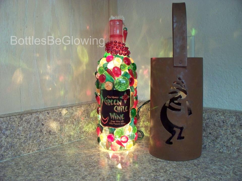 Green Chile Bottle Lamp