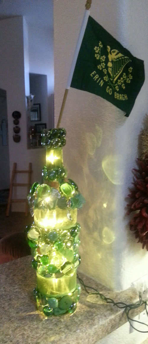 erin-go-bragh lighted bottle