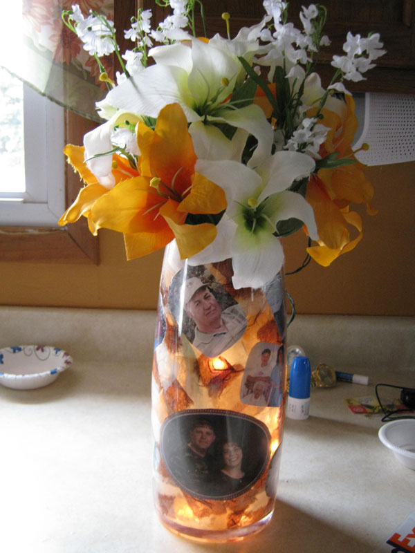 Picture Vase Bottle Lamp