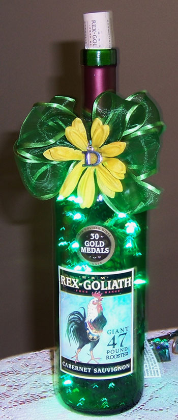 Jim and Jeanette's Rex Goliath lighted bottle