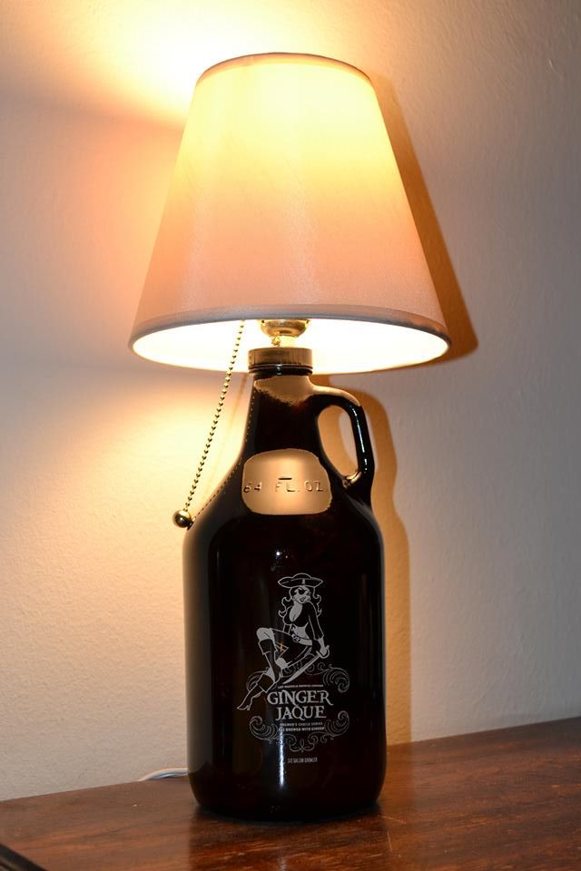 Ginger Jaque Growler Bottle Lamp With Kit