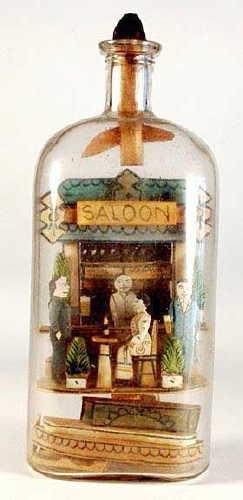Vintage Bottle Art pinned by Faith