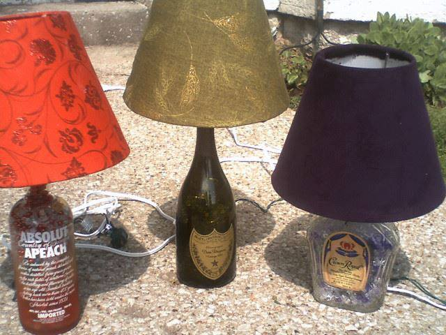 three bottle lamps