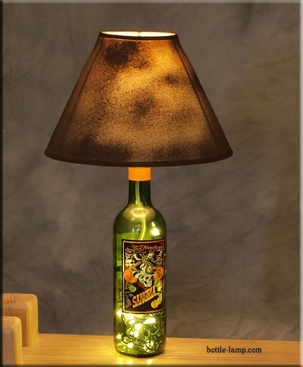Ed Hardy Bottle Lamp