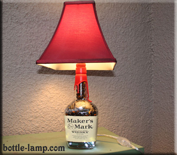 Makers Mark Bottle Lamp
