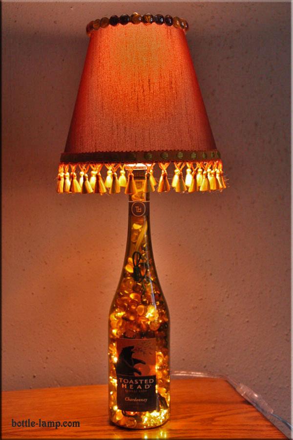 Classy Wine Bottle Lamp