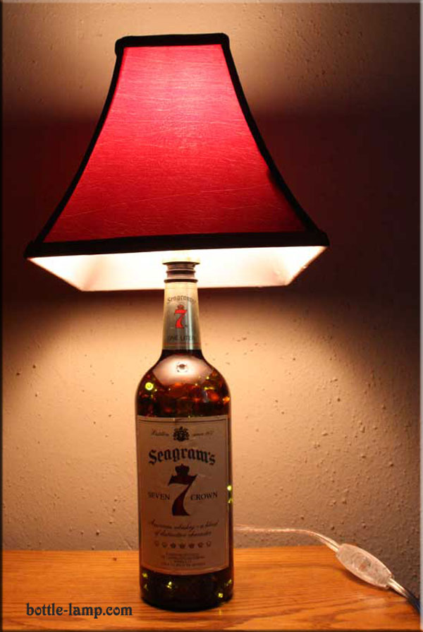 Seagram's 7 Bottle Lamp