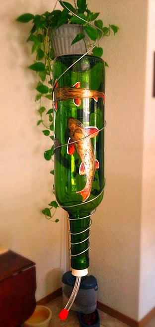 Upcycled Bottle Art By Michelle K.