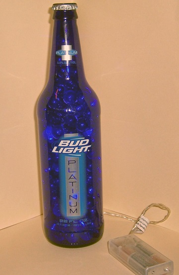 Lighted Bud Light Bottle