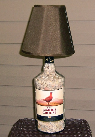 famous grouse bottle lamp