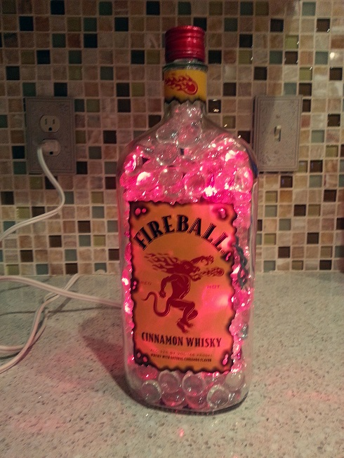 Fireball Bottle with Lights