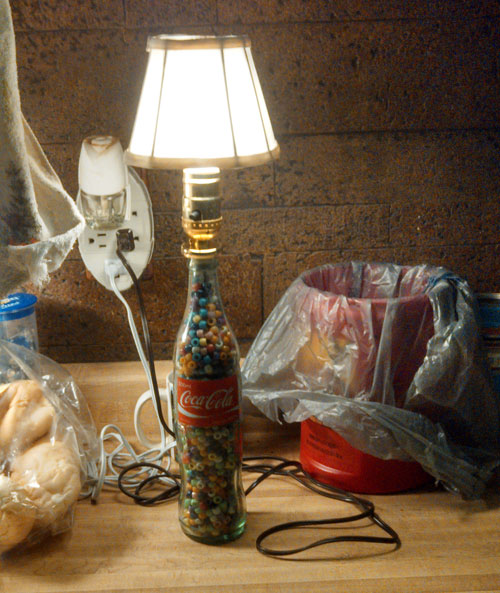 A Vintage Coca Cola Bottle Has Found A Second Life With The Addition Of A  Bottle Lamp Kit And Some Bead Filler!
