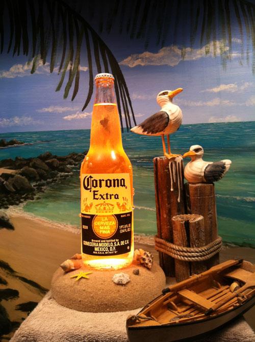 Corona Beer Bottle Lamp