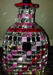 Pink Mosaic Lamp