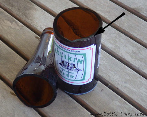 Cut Belikin Beer Bottle