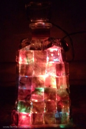 Mosaic Lighted Bottle