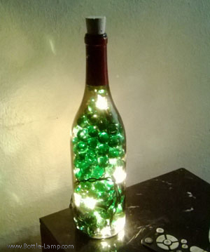 Wine Bottle With Gems