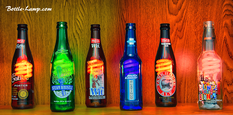 Beer Bottle Light Collection Lighted