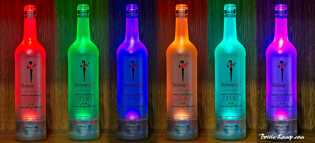 Skinny Girl Bottle Lamps