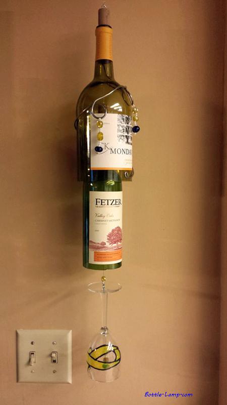 Bottle Wine Glass Chime