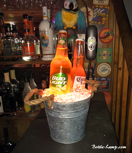 Beer Bottle Bucket Lamp