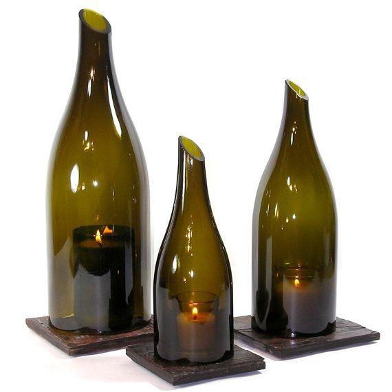 wine bottle hurricane lanters