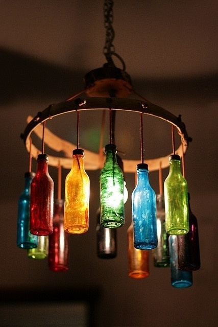 unique bottle chandelier