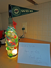 MN Wild Bottle Light