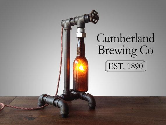 Beer Bottle Lamp - Industrial Style Lighting